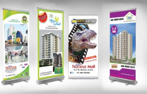 Chọn standee cuốn cao cấp