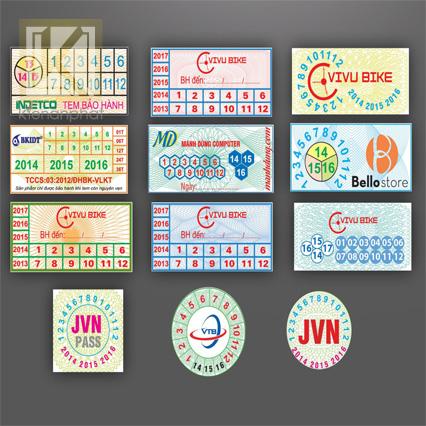 In tem bảo hành TPHCM thiết kế đẹp, chất lượng