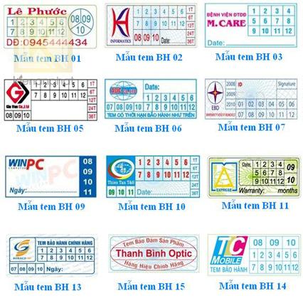 Thiết kế và in tem bảo hànhchuyên nghiệp
