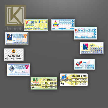 Ưu điểm của in tem nhãn bảo hành
